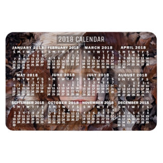 2018 Year Monthly Calendar White   Add Photo Magnet