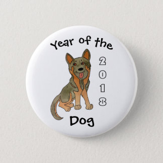 2018 Year of the Dog German Shepherd 6 Cm Round Badge