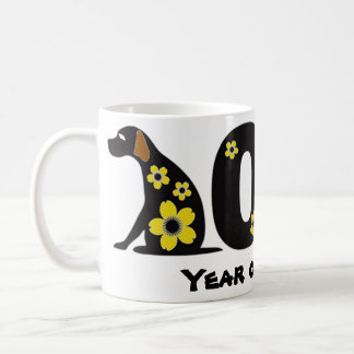 2018 year of the dog happy new years holiday mug