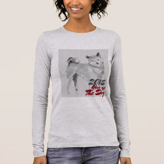 2018 Year of the Dog ink wash painting Women Shirt