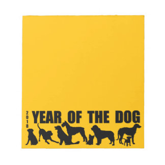2018 Year of The Dog Yellow Notepad