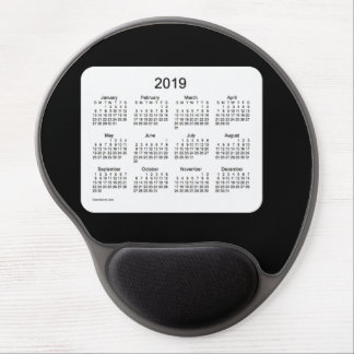 2019 Black Calendar by Janz Gel Mouse Pad