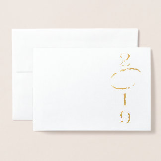 2019 - chinese year of the pig foil card