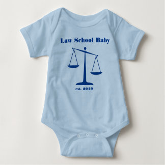 2019 Law School Baby Romper (Blue Ink) Baby Bodysuit
