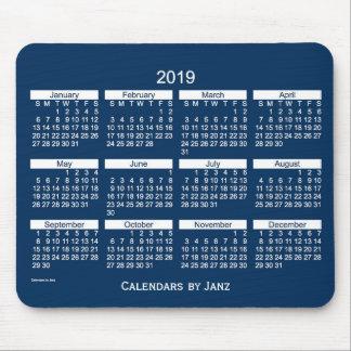 2019 Police Box Blue Bold Calendar by Janz Mouse Pad