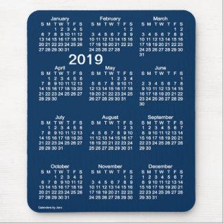 2019 Police Box Blue Large Print Calendar by Janz Mouse Pad