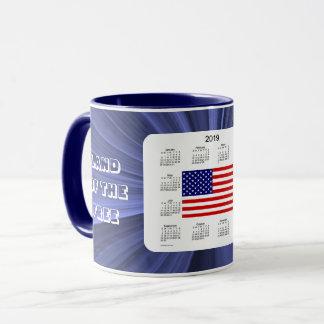 2019 USA Flag Calendar by Janz Ringer Coffee Mug