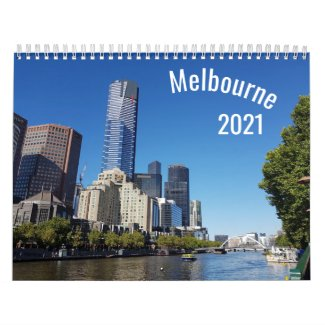 2021 Melbourne Yearly Calendar