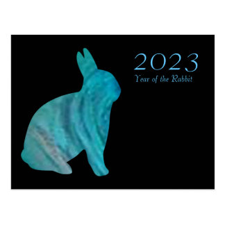 2023 Year of the Rabbit Card by Janz Postcard