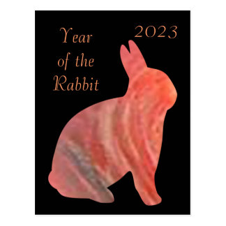2023 Year of the Rabbit Postcard
