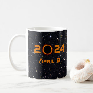 2024 Total Solar Eclipse Date Starry Sky Coffee Mug