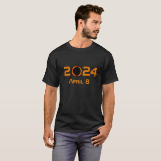 2024 Total Solar Eclipse Date Starry Sky T-Shirt