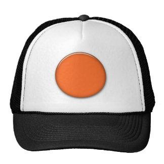 202__neon-orange-brad PINK CIRCLE POLKADOT TEMPLAT Mesh Hats