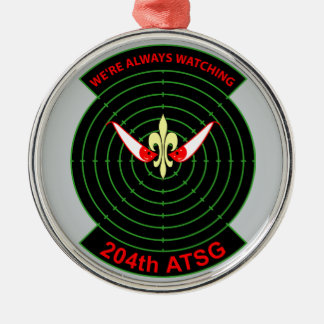 204th Air Traffic Services  Group Silver-Colored Round Decoration