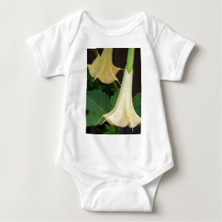 206a Angels trumpet yellow close up Baby Bodysuit