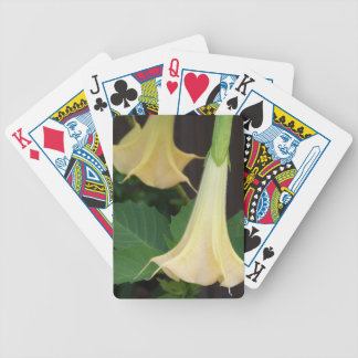 206a Angels trumpet yellow close up Bicycle Playing Cards