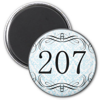207 Area Code Magnet