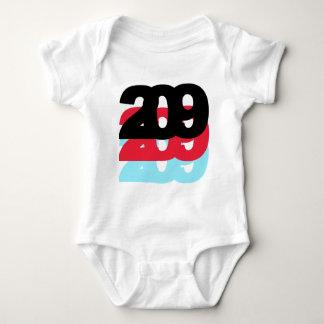 209 Area Code Baby Bodysuit