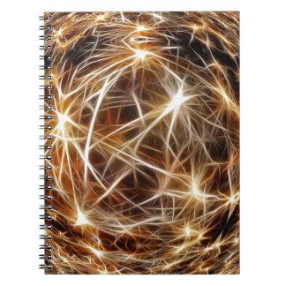 209 DIGITAL STARS backgrounds space stars wallpape Spiral Notebooks