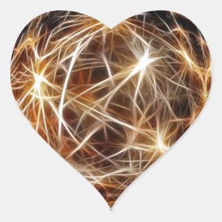 209 DIGITAL STARS backgrounds space stars wallpape Heart Sticker