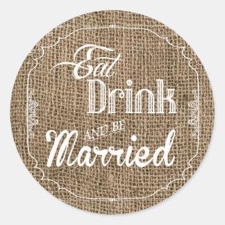 20 - 1.5  Envelope Seal Eat Drink Be Married Burla