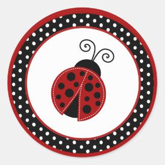 """20 - 1.5"""" Envelope Seal Red Ladybug"""