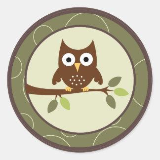 """20 - 1.5"""" Envelope Seals Forrest Animal Owl Deer Stickers"""