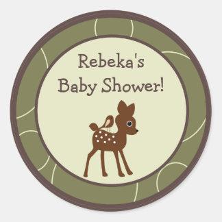 """20 - 1.5"""" Favor Stickers Forrest Animal Owl Deer"""
