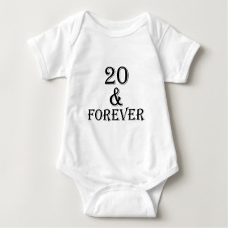 20 And  Forever Birthday Designs Baby Bodysuit