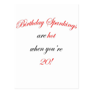 20  Birthday spankings are hot! Postcard