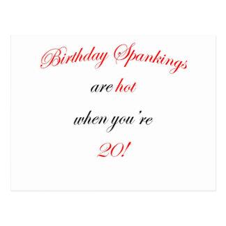 20  Birthday spankings are hot! Postcard