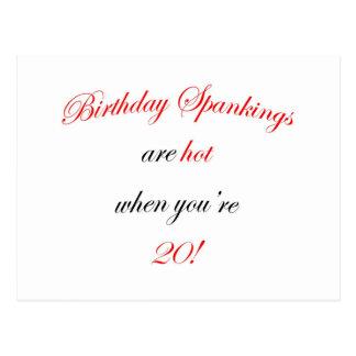 20 Birthday spankings Postcard