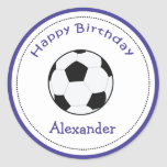 20 Customisable Cupcake Toppers Soccer Ball Sports Round Stickers