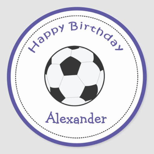 20 Customizable Cupcake Toppers Soccer Ball Sports Round Stickers