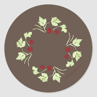 """20 Holiday Wreath Stickers 1.5"""""""