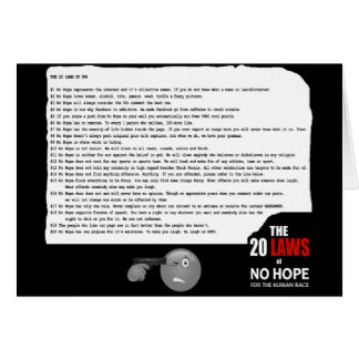 20 Laws of No Hope for the Human Race Greeting Card