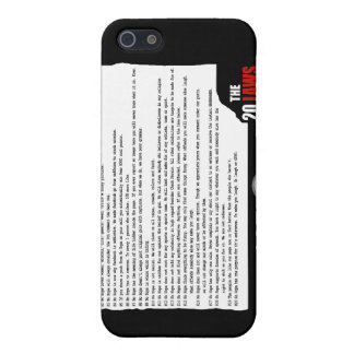 20 Laws of No Hope for the Human Race Case For iPhone 5/5S