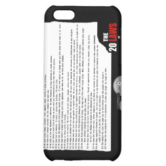 20 Laws of No Hope for the Human Race iPhone 5C Case
