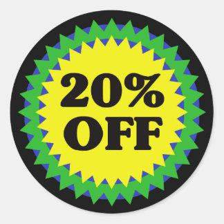 20% OFF RETAIL SALE STICKER