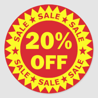 20% Off Retail Sale Stickers