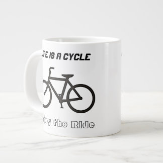 "20 oz Jumbo Mug Bowl, ""Life is a Cycle"""