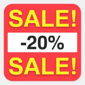 20 percent sale discount stickers