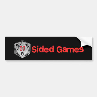20 Sided Games Bumper Sticker