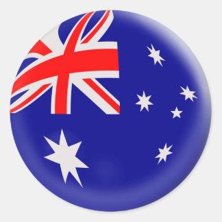 20 small stickers Australia flag