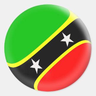 20 small stickers Saint Kitts & Nevis flag
