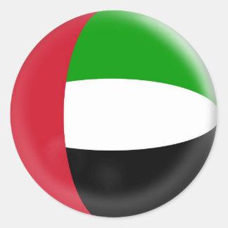 20 small stickers United Arab Emirates flag