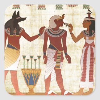 20 square stickers ancient egyptian tomb painting