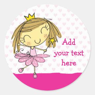 ♥ 20 STICKERS ♥ Cute Pink Princess Ballet girl