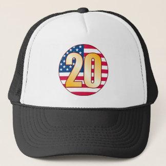 20 USA Gold Trucker Hat