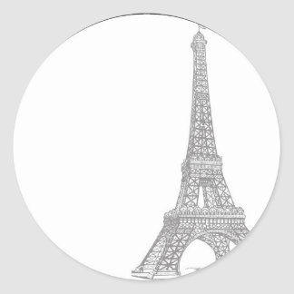 20 Wedding in Paris Envelope Seal Round Sticker